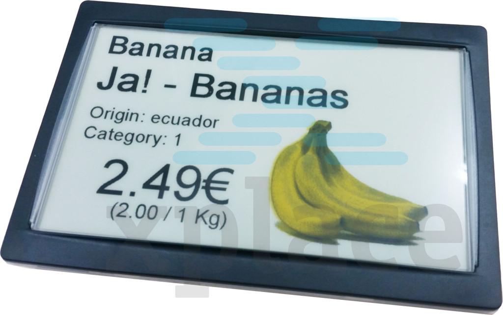 Икс-плэйс предлагает своим клиентам электронные ценники, умеющие отображать жёлтый цвет.